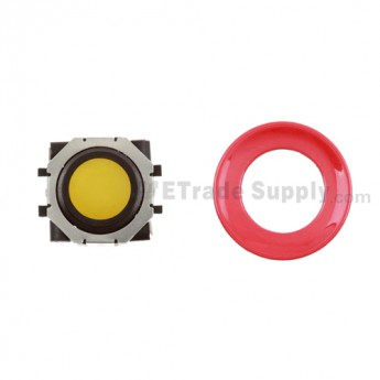 BlackBerry Pearl 8100,8300,8800,8220,9000 Yellow Trackball and Black Inner Ring Assembly with Outer Ring ,Red