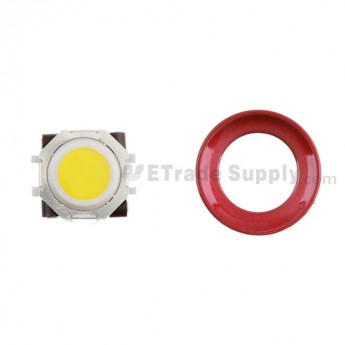BlackBerry Pearl 8100,8300,8800,8220,9000 Yellow Trackball and White Inner Ring Assembly with Outer Ring ,Dark Red