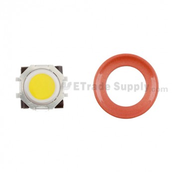 BlackBerry Pearl 8100,8300,8800,8220,9000 Yellow Trackball and White Inner Ring Assembly with Outer Ring ,Neon Orange