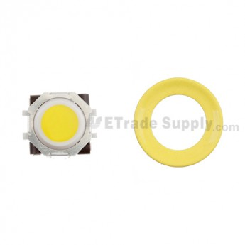 BlackBerry Pearl 8100,8300,8800,8220,9000 Yellow Trackball and White Inner Ring Assembly with Outer Ring ,Neon Yellow