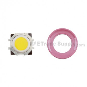 BlackBerry Pearl 8100,8300,8800,8220,9000 Yellow Trackball and White Inner Ring Assembly with Outer Ring ,Pink