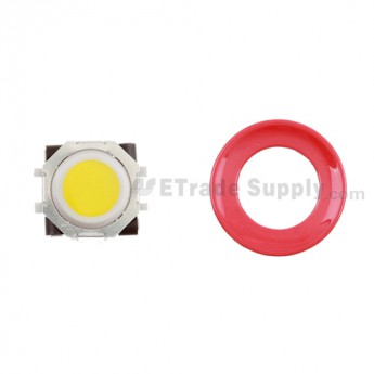 BlackBerry Pearl 8100,8300,8800,8220,9000 Yellow Trackball and White Inner Ring Assembly with Outer Ring ,Red