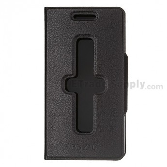 BlackBerry Z10 Leather Case ,Black