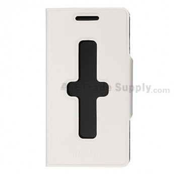 BlackBerry Z10 Leather Case ,White