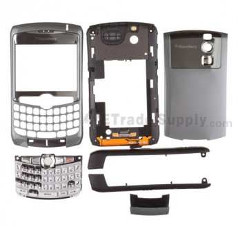 Blackberry Curve 8310 Complete Housing with OEM Intermixed Components ,Silver