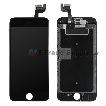 For AP APH 6S LCD Screen and Digitizer Assembly with Frame and Small Parts (without Home Button) Replacement - Black - Grade S (0)