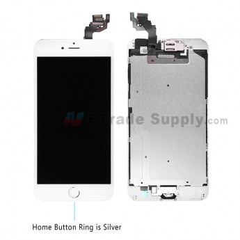 For AP APH 6 Plus LCD Screen and Digitizer Assembly with Frame and Home Button Replacement - Silver - Grade R (0)