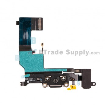 For AP APH SE Charging Port Flex Cable Ribbon Replacement - Black - Grade S+ (1)