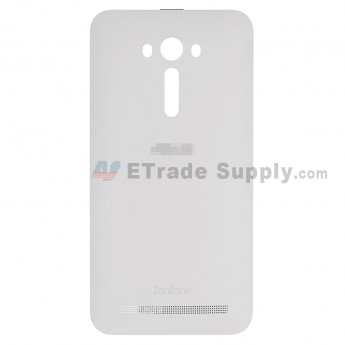 For AU Zenfone 2 Laser ZE550KL Battery Door Replacement - White - AU and Zenfone Logo - Grade S+ (0)