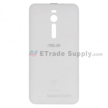For AU Zenfone 2 ZE551ML Battery Door Replacement - White - AU and Zenfone Logo - Grade S+ (0)