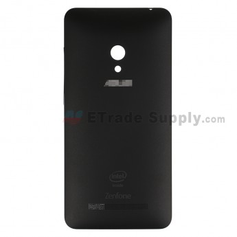 For AU Zenfone 5 A500CG Battery Door Replacement - Black - AU and Zenfone Logo - Grade S+ (0)