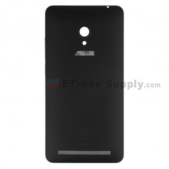 For AU Zenfone 6 A600CG Battery Door Replacement - Black - AU and Zenfone Logo - Grade S+ (0)