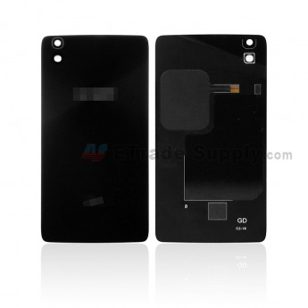 For Alcatel Idol 4 6055 Battery Door Replacement - Black - With Logo - Grade S+ (0)