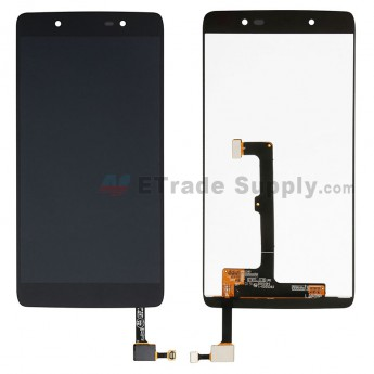 For Alcatel Idol 4 6055 LCD Screen and Digitizer Assembly Replacement - Black - Without Any Logo - Grade S+ (0)