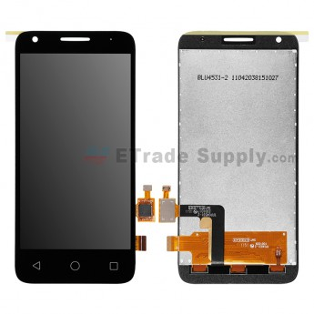 For Alcatel OneTouch Pixi 3 (4.5) 4027 LCD Screen and Digitizer Assembly Replacement - Black - Without Logo - Grade S+ (1)