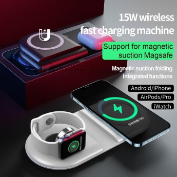 For Android/APH/AirPods/pro/iwatch wireless fast charging machine -ws39 (0)