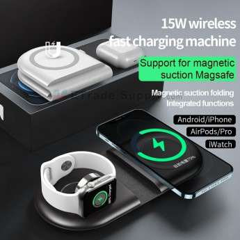 For Android/APH/AirPods/pro/iwatch wireless fast charging machine(Magnetic suction)-ws39 (0)