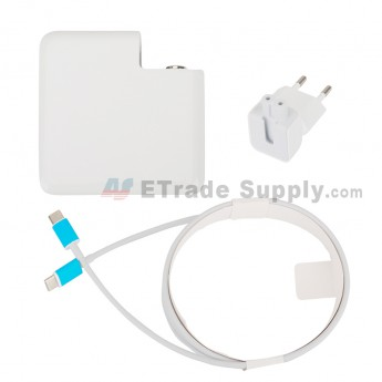 For Apple Macbook Power Adapter Type-C Interface (Eur Plug,61W) - Grade S+ (0)