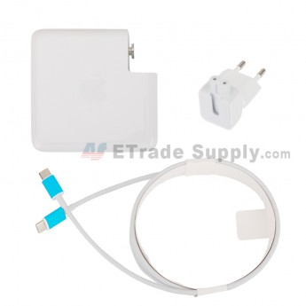 For Apple Macbook Power Adapter Type-C Interface (Eur Plug,87W) - Grade S+ (0)