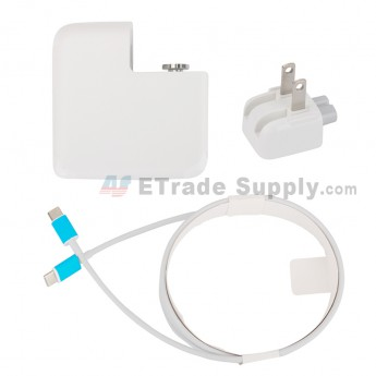 For Apple Macbook Power Adapter Type-C Interface (US Plug,30W) - Grade S+ (0)
