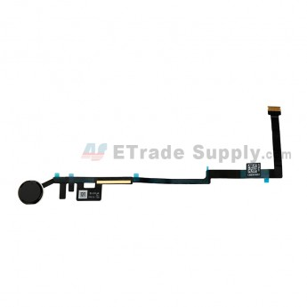 For Apple The New iPad Home Button Assembly with Flex Cable Ribbon Replacement - Black - Grade S+ (0)