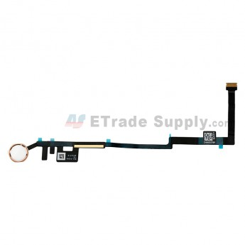 For Apple The New iPad Home Button Assembly with Flex Cable Ribbon Replacement - Rose Gold - Grade S+ (0)