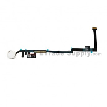 For Apple The New iPad Home Button Assembly with Flex Cable Ribbon Replacement - Silver - Grade S+ (0)