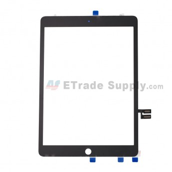 For Apple iPad 10.2 (2019) Digitizer Touch Screen Assembly with Adhesive Replacement - Black - Grade S+ (0)