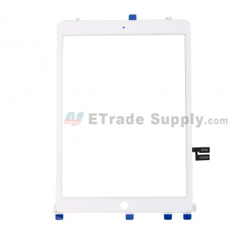 For Apple iPad 10.2 (2019) Digitizer Touch Screen Assembly with Adhesive Replacement - White - Grade S+ (0)