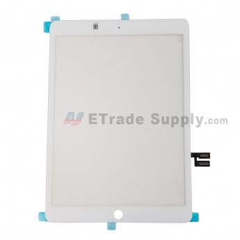 For Apple iPad 10.2 (2019) Digitizer Touch Screen Replacement - White - Grade S+ (0)