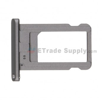 For Apple iPad 10.2 (2019) SIM Card Tray Replacement - Gray - Grade S+ (0)