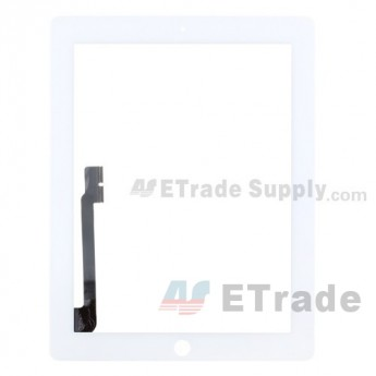 For Apple iPad 3/4 Digitizer Touch Screen Replacement - White - Grade S (0)