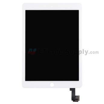 For Apple iPad Air 2 LCD Screen and Digitizer Assembly Replacement - White - Grade R (0)