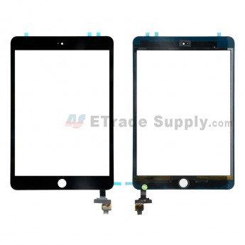 For Apple iPad Mini 3 Digitizer Touch Screen Assembly with IC Board Replacement (without Home Button) - Black - Grade R (3)