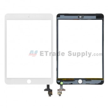 For Apple iPad Mini 3 Digitizer Touch Screen Assembly with IC Board Replacement (without Home Button) - White - Grade R (0)