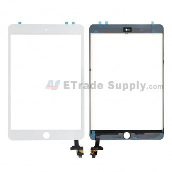 For Apple iPad Mini 3 Digitizer Touch Screen Assembly with IC Board Replacement (without Home Button) - White - Grade S (0)