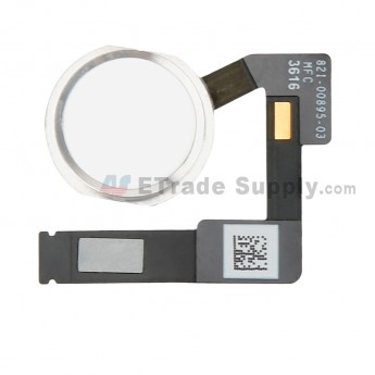 For Apple iPad Pro 10.5 Home Button Assembly with Flex Cable Ribbon Replacement - Silver - Grade S+ (0)