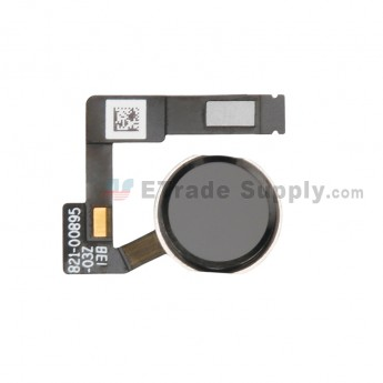 For Apple iPad Pro 12.9 (2nd Gen) Home Button Assembly with Flex Cable Ribbon Replacement - Black - Grade S+ (0)