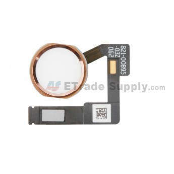 For Apple iPad Pro 12.9 (2nd Gen) Home Button Assembly with Flex Cable Ribbon Replacement - Rose Gold - Grade S+ (0)