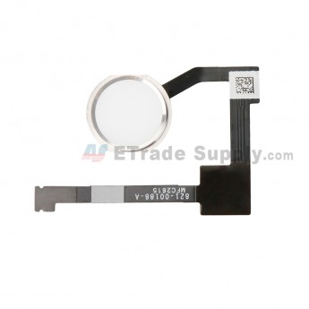 For Apple iPad Pro 12.9 Home Button Assembly with Flex Cable Ribbon Replacement - Silver - Grade S+ (4)