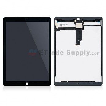 For Apple iPad Pro 12.9 LCD Screen and Digitizer Assembly Replacement (With Aftermarket IC Board) - Black - Grade S+ (0)