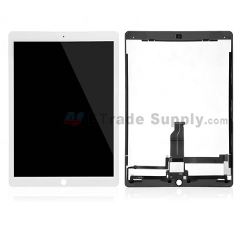 For Apple iPad Pro 12.9 LCD Screen and Digitizer Assembly Replacement (With Aftermarket IC Board) - White - Grade S+ (0)