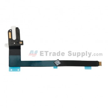 For Apple iPad Pro 9.7 Audio Flex Cable Ribbon Replacement - White - Grade S+ (0)