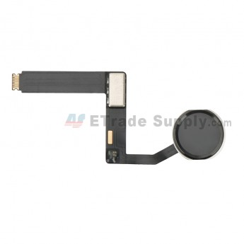 For Apple iPad Pro 9.7 Home Button Assembly with Flex Cable Ribbon Replacement - Black - Grade S+ (4)
