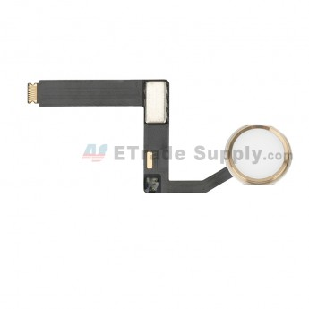 For Apple iPad Pro 9.7 Home Button Assembly with Flex Cable Ribbon Replacement - Gold - Grade S+ (0)