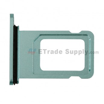 For Apple iPhone 11 SIM Card Tray Replacement - Green - Grade S+ (0)