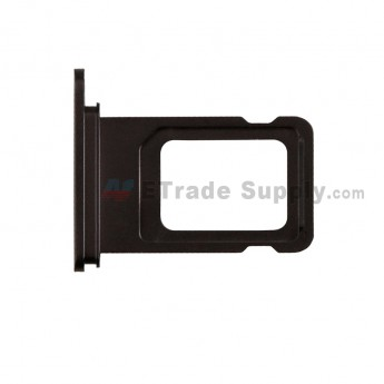 For Apple iPhone 11 SIM Card Tray Replacement (Double SIM Card) - Black - Grade S+ (0)