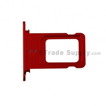 For Apple iPhone 11 SIM Card Tray Replacement (Double SIM Card) - Red - Grade S+ (0)