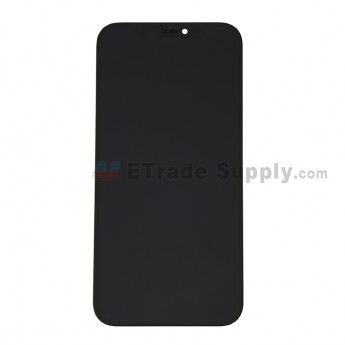 For Apple iPhone 12/12 Pro LCD Screen and Digitizer Assembly with Frame Replacement - Black - Grade S+ (0)