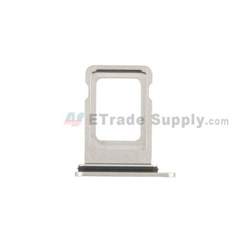For Apple iPhone 12 Pro/12 Pro Max SIM Card Tray Replacement (Single SIM Card) -Silver - Grade S+ (0)